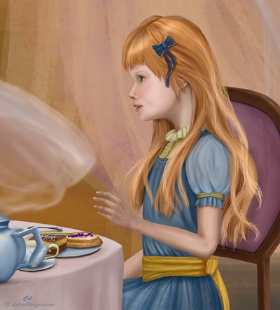 girl at tea party