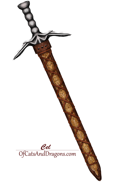Drawing of sword by Carol E Leever