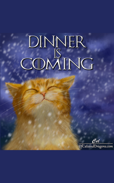 Dinner is Coming kitten